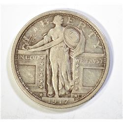 1917 TYPE-1 STANDING LIBERTY QUARTER, VF
