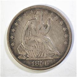 1856-O SEATED DOLLAR, VF+