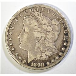 1890-CC MORGAN DOLLAR, F/VF