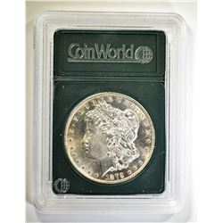 1879-S MORGAN DOLLAR, GEM BU