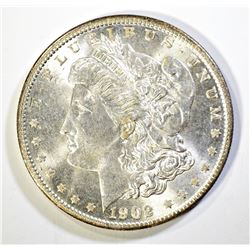 1902-O MORGAN DOLLAR, GEM BU