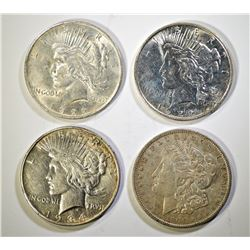 PEACE AND MORGAN DOLLAR LOT: