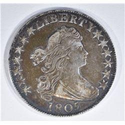 1805 DRAPED BUST HALF DOLLAR  AU