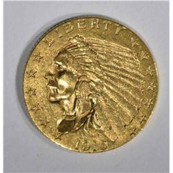 1915 GOLD $2 1/2 INDIAN HEAD  CH BU