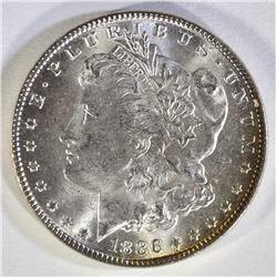 1886 MORGAN DOLLAR  CH BU+