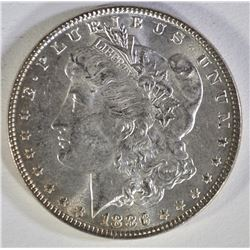 1886 MORGAN DOLLAR REPUNCHED DATE  GEM BU