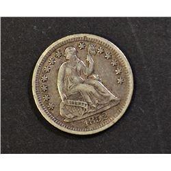 1852-O SEATED HALF DIME, VF+