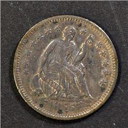 1855-O SEATED HALF DIME, XF