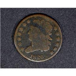 1826 HALF CENT rotated dies GOOD