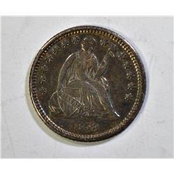1858-O SEATED HALF DIME, AU/BU