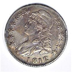1812 BUST HALF DOLLAR, XF+