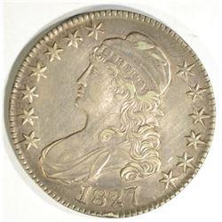 1827 BUST HALF DOLLAR, XF/AU