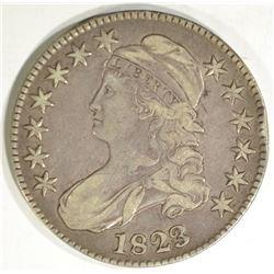 1823 BUST HALF DOLLAR, XF