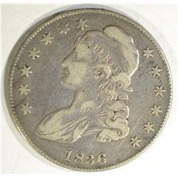 1836 BUST HALF DOLLAR, VF/XF