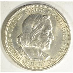 1893 COLUMBIAN HALF DOLLAR, GEM BU