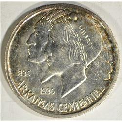 1935-S ARKANSAS COMMEM HALF DOLLAR, GEM BU