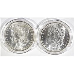 1883-O & 1885-O CH BU MORGAN DOLLARS IN CAPSULES