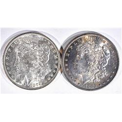 1885 & 1890 MORGAN DOLLARS  CH BU