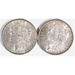1896 & 1887 MORGAN DOLLARS  CH BU