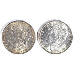 1900 & 1887 MORGAN DOLLARS  CH BU