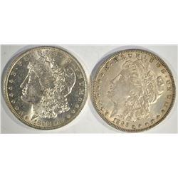 1883-O & 1885-O MORGAN DOLLARS  CH BU
