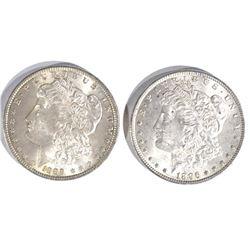 1889 & 1896 MORGAN DOLLARS  CH BU