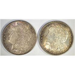 2-NICE CH BU 1896 MORGAN DOLLARS