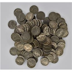 125-MIXED DATE FULL DATE BUFFALO NICKELS