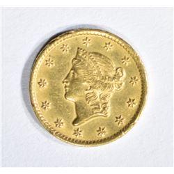 1851-C $1 GOLD AU/BU