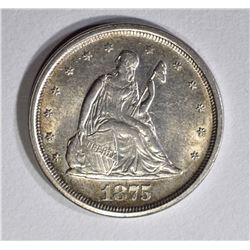 1875-S SEATED LIBERTY 20 CENT PIECE