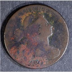 1802 DRAPED BUST LARGE CENT, FINE 2-238 R-4