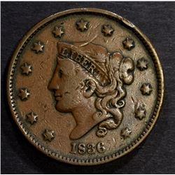 1836 LARGE CENT VF