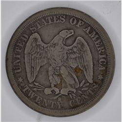 1875-S TWENTY CENT PIECE, FINE