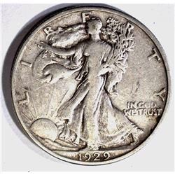 1929-S WALKING LIBERTY HALF DOLLAR  XF