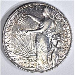 1915-S PAN-PACIFIC COMMEM HALF DOLLAR, CH BU