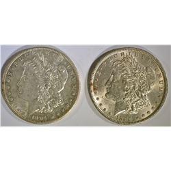 1896 & 1904-O CH BU MORGAN DOLLARS