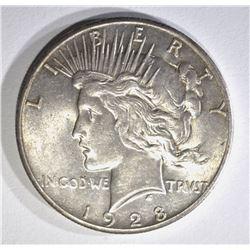 1928 PEACE SILVER DOLLAR CHBU