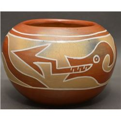 SANTA CLARA INDIAN POTTERY BOWL