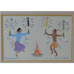 NAVAJO INDIAN PAINTING (BEGAY)