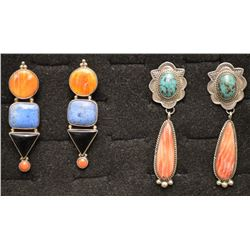NAVAJO INDIAN AND MEXICAN EARRINGS