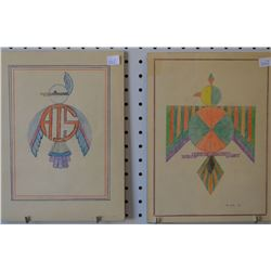 TWO NAVAJO INDIAN PAINTINGS