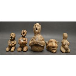 CHOCTAW INDIAN POTTERY SCULPTURES (KANIATOBE)