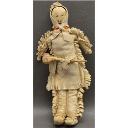 PLAINS INDIAN HIDE DOLL