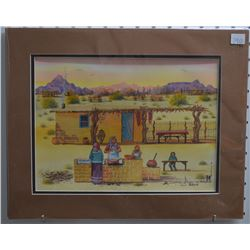 PAPAGO INDIAN PAINTING (CHIAGO)