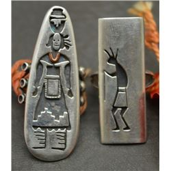 TWO HOPI INDIAN RINGS