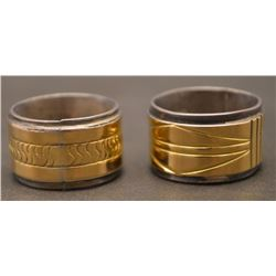 TWO NAVAJO INDIAN RINGS (NEZ)