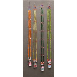 FOUR ZUNI INDIAN NECKLACES