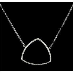 CZ Triangle Pendant Necklace - 925 Silver