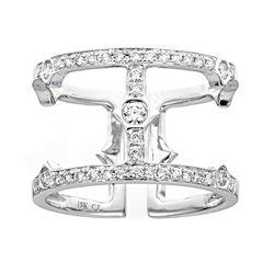 0.45 ctw Diamond Ring - 18KT White Gold