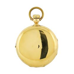 Antique Jules Emmery Lagne Pocket Watch - 18KT Yellow Gold